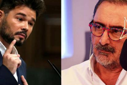 """Herrera se horroriza con la """"basura"""" de socios de Sánchez y le dedica un mensaje a Rufián: """"¡Es un pobre ignorante!"""""""
