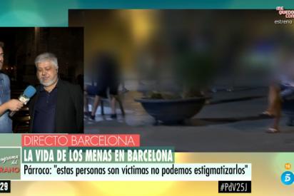 Terrible agresión en Barcelona de los 'mena' a reporteros de Telecinco y acaba en pelea con la Policía