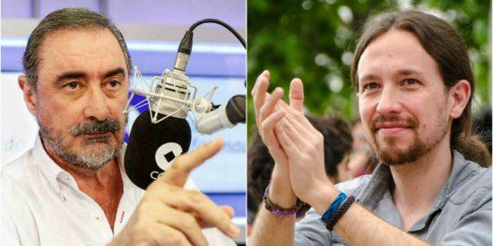 """Carlos Herrera: """"¿Cómo se va a fiar alguien de canallas como los de Podemos?"""""""