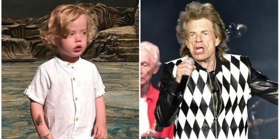 Deveraux, el hijo pequeño de Mick Jagger, es un calco del viejo rockero