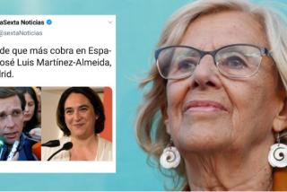 Manipulación a mayor gloria de Carmena: laSexta se queja de que el alcalde que más cobra en España sea Martínez Almeida