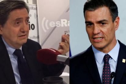 """Losantos le mete un rapapolvo constitucional a Sánchez: """"Dice que acata la legalidad, pero no puede reprobar al infame y matón ministro Marlaska"""""""