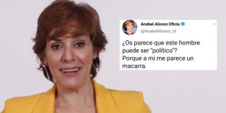 Tremendo 'zasca' a la nueva barrabasada de la actriz pésima Anabel Alonso en defensa del feminismo sectario de la Vice