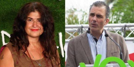 Lucía Etxebarría se quema viva en su sectarismo insinuando que el vídeo en el que Ortega Smith apaga unos contenedores es un montaje