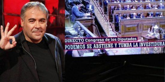 El cabreo encendido de una podemita con Ferreras por culpar a los de Iglesias de tumbar la investidura de Pedro Sánchez