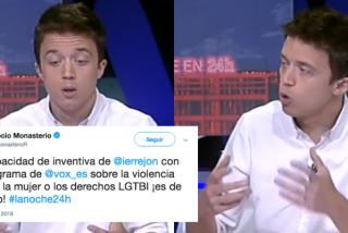 Errejón se sube a la ola del 'efecto Otegi': se pone medallas y difama a VOX desde la TVE de Rosa María Mateo