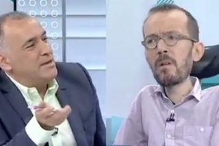 Pablo Iglesias 'empuja' al purgado Echenique a una entrevista en la tele de 'El Lechero' para suplicarle por última vez a Sánchez unos ministerios