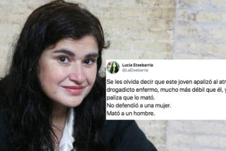 """Lucía Etxebarría echa otro borrón a su carrera con una miserable afirmación sobre Borja: """"No defendió a una mujer, mató a un drogadicto enfermo"""""""