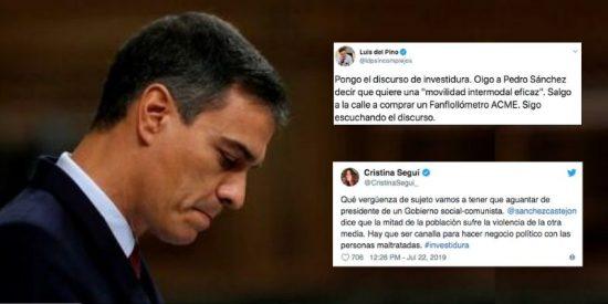 """Seguí abandera la 'paliza' a la investidura de Sánchez desde Twitter: """"Qué vergüenza de sujeto, hay que ser canalla"""""""