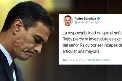 El boomerang tuitero que se le vuelve en contra a Pedro Sánchez por largar más de la cuenta