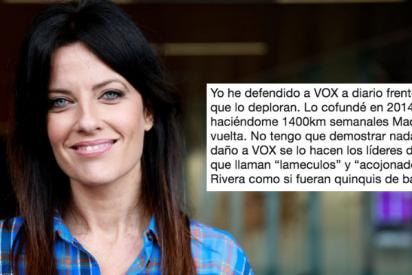 """Cristina Seguí cruje a base de bien a su añorado Vox: """"El daño al partido se lo hacen sus propios líderes llamando lameculos a Rivera"""""""