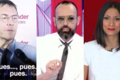 Monedero se niega a responder a una periodista de Cuatro y Risto, encantado con el feo, estalla tachándole de machista