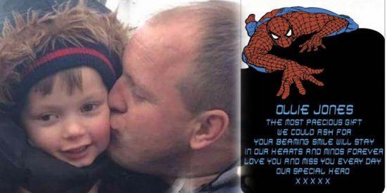 Disney prohíbe a este padre poner un grabado de Spider-Man en la tumba de su hijo de 4 años