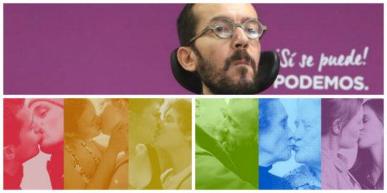 ¡Zas en toda la boca! Echenique se pone a presumir de lo volcado que está Podemos con el orgullo gay y le calzan un corte con un repasito histórico