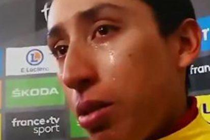 """Egan Bernal llora de emoción tras ponerse líder del Tour: """"Quiero llegar en amarillo a París"""""""