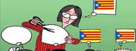 Deja el colegio la niña de Tarrasa agredida por su profesora por pintar una bandera española