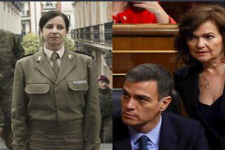El zasca de Patricia Ortega, la primera general del Ejército español, a la 'feminista' Carmen Calvo