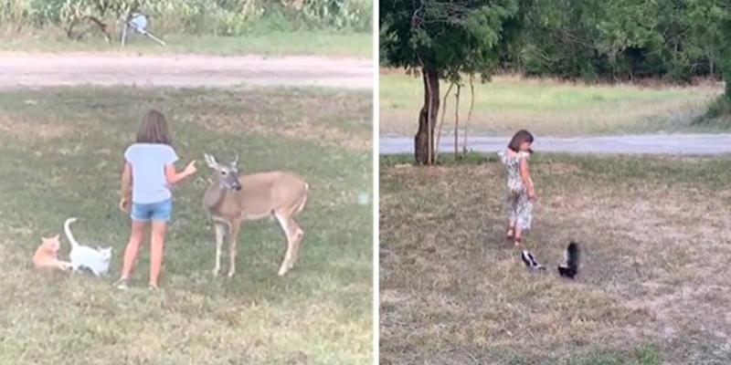 La niña que se comunica con los animales salvajes como el Doctor Dolittle
