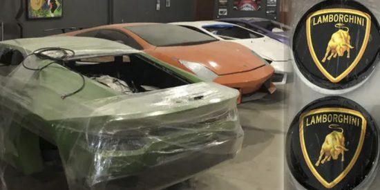 La policía de Brasil desmantela una fábrica de falsos Lamborghinis y Ferraris