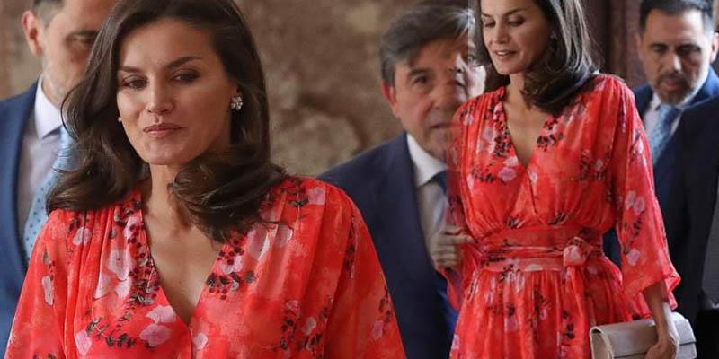La reina Letizia la 'más floreada' en La Rioja