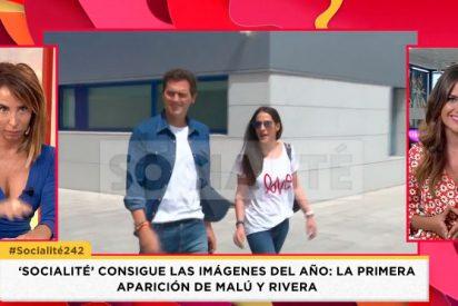 El espantoso ridículo de María Patiño dando como exclusiva las imágenes de Malú y Albert Rivera juntos saliendo del hospital