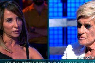 Chelo García Cortes recula y pide perdón a María Patiño en directo en 'Sábado Deluxe'