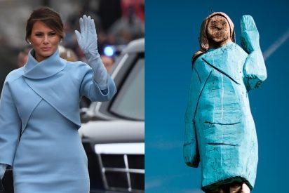 Melania Trump: La estatua que desata la mofa planetaria contra la Primera Dama de EEUU