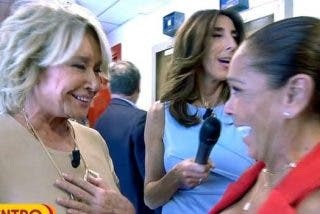 Isabel Pantoja y Mila Ximánez protagonizan un histórico momento en televisión al fundirse en un cariñoso abrazo