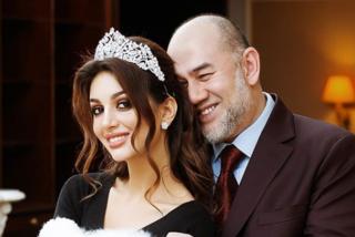 Mohamed V de Kelantan, rey de Malasia, se divorcia de la ex miss rusa por la que abdicó del trono hace seis meses