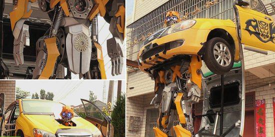 Así es el primer gigante robot transformer real