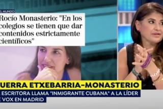 Crujen en las redes a Lucía Etxebarria por su comentario xenófobo contra Monasterio: