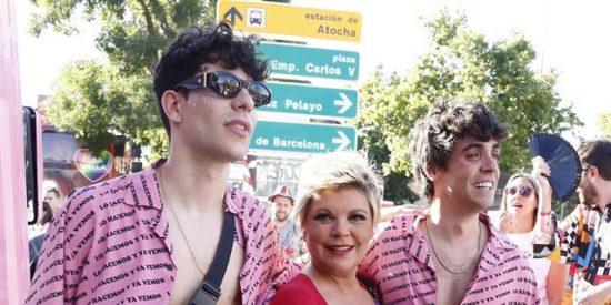 Terelu Campos se desmelena en el desfile madrileño del Orgullo Gay 2019