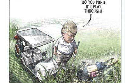 Caricaturista canadiense pierde su trabajo por hacer esta ilustración sobre Trump y los inmigrantes muertos
