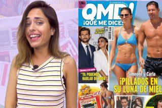 Pillan a Simeone en plena luna de miel y a Carlos Lozano y Miriam Saavedra besándose en Madrid