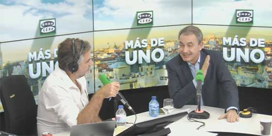 Alsina desmonta a un 'desencadenado' Zapatero después de propinarle a su tertuliano un broncazo de escándalo