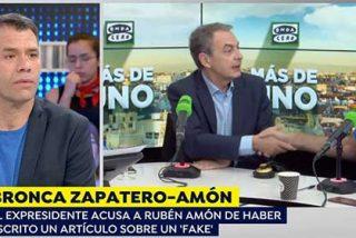 Griso instala un VAR para que Amón firme tablas con Zapatero tras el brutal alboroto que le montó el socialista