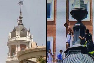 Conmoción en el centro de Madrid: rescatado el hombre que amenazaba con tirarse desde la torre de un hotel