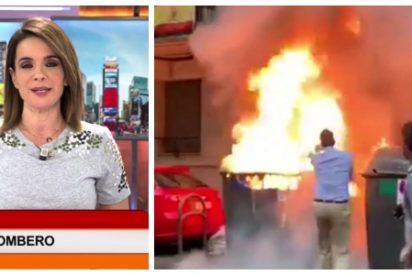 """Las bromitas de mal gusto de Carme Chaparro para atacar a VOX: """"Es la primera vez que en lugar de iniciar un incendio, lo apagan"""""""
