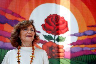 """Bronca por esta 'boutade' de una eloquecida Carmen Calvo: """"No bonita, el feminismo no es de todas"""""""