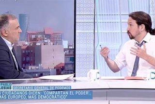 El 'neutral' Fortes demuestra en la entrevista con Iglesias que tiene más ganas él de un gobierno del PSOE con los podemitas que su propio invitado