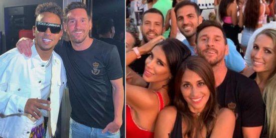 El vídeo de la juerga de Messi y Suárez en Ibiza que termina mal: pelea de macarras en la disco
