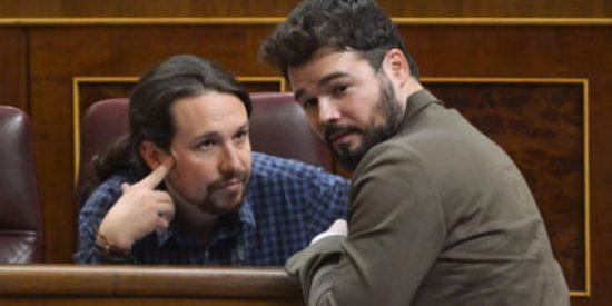 El astuto Gabriel Rufián esconde sus verdaderas intenciones cuando apremia a Iglesias para que apoye la formación del 'Gobierno Frankenstein'