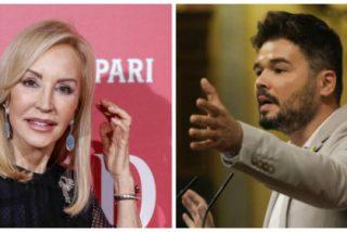 """Carmen Lomana es una mina en Twitter: ahora la emprende con Rufián al que llama """"lumpen"""""""