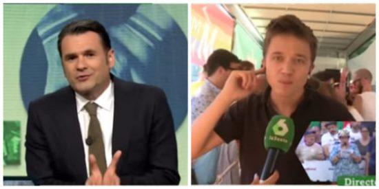 ¡Más asquerosidad no cabe! Iñaki López gozando con el aplauso que Errejón lanza a quienes escracharon a Ciudadanos