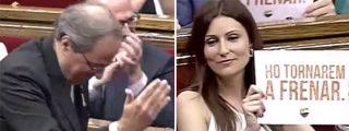 'La nueva Arrimadas' coge el testigo en lo de humillar a Torra en el Parlament y le monta un circo formidable