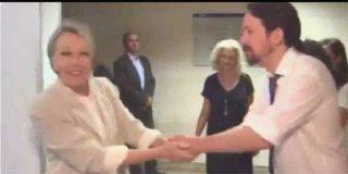 Se filtra un vídeo que muestra a Rosa María Mateo y Pablo Iglesias con tal sintonía que es imposible no pensar que fue él quién la colocó en TVE
