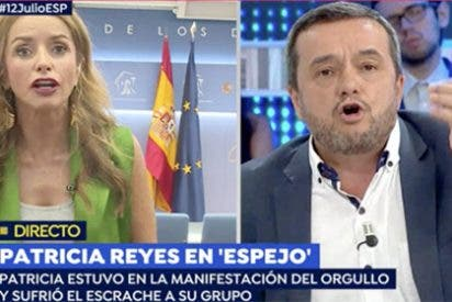 Indecente: el jefe de Público se abalanza sobre una diputada de Ciudadanos en TV acusándola de disfrutar las agresiones del Orgullo Gay