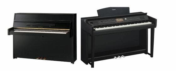 piano acústico y piano digital
