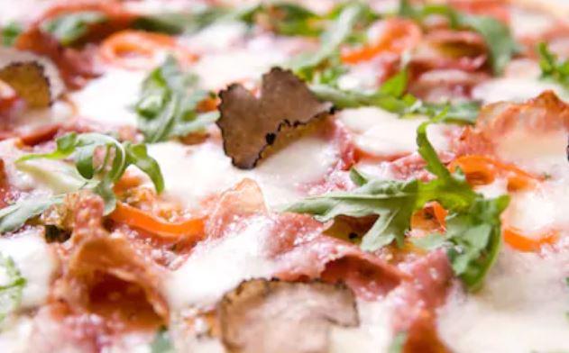 Receta de pizza con trufa