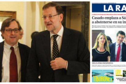 Rajoy 'escribe' el editorial de La Razón y carga duramente contra la remodelación que Pablo Casado impulsa en el PP